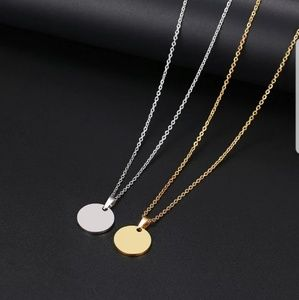 Necklace Round Circle Pendant
